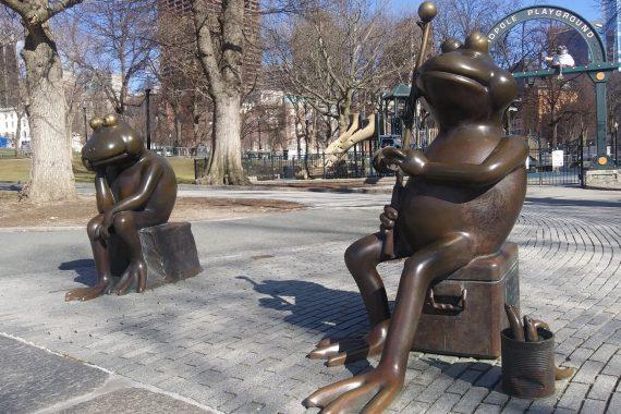 Frogs in pond, David Phillips, Boston